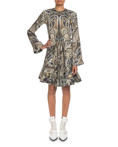 6ca874aee18f Promotion Metallic Paisley Bell-Sleeve Dress Quick Look. Chloe