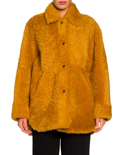Reversible Chubby Lamb-Fur Coat