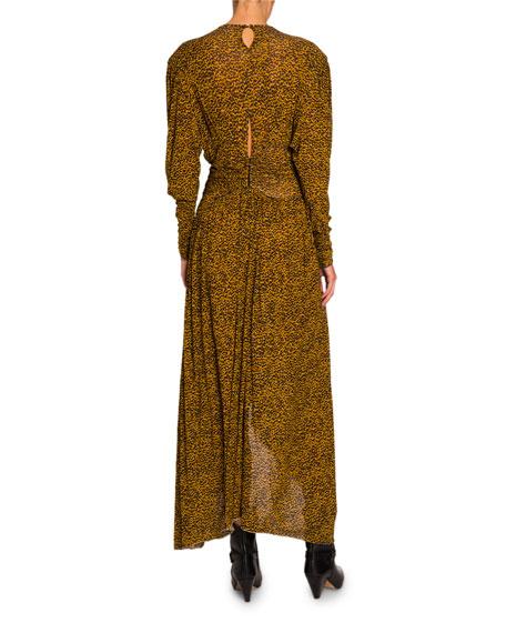 697fe58fdd5 Isabel Marant Floral-Print Jersey Asymmetric Dress