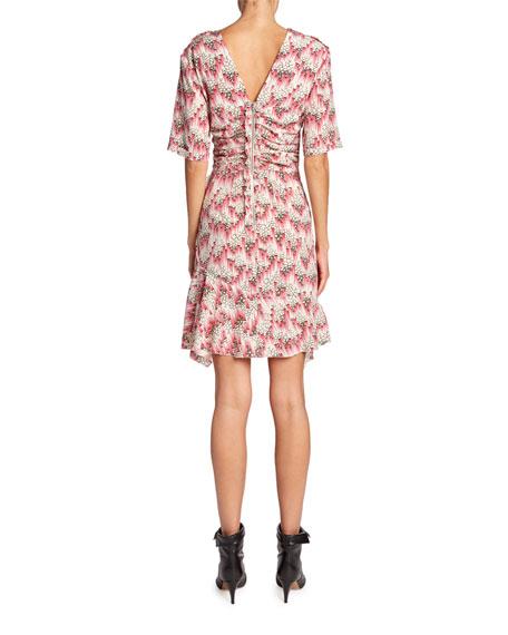 Floral Mini V-Neck Dress