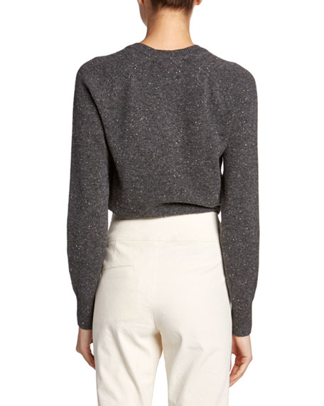 Marled Cashmere Crewneck Sweater