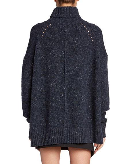 Cashmere Chunky-Knit Turtleneck Sweater