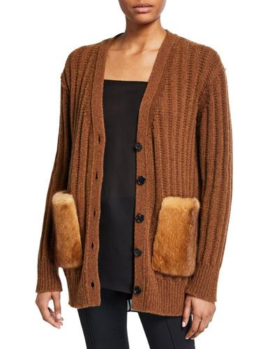Wool-Cashmere Oversized Cardigan
