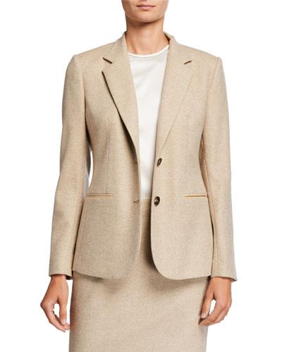 Wool-Cashmere Blazer