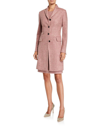 Silk-Blend Marled Suiting Coat