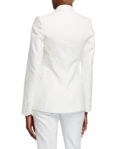 Sophie Double-Breasted Cotton Blazer