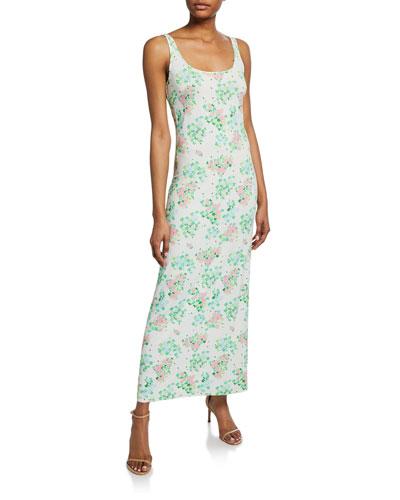 Monica Sleeveless Floral-Print Midi Dress
