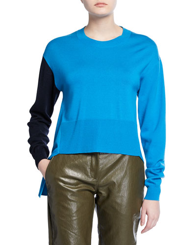 Two-Tone Asymmetric Sweater