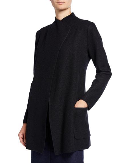 Fluid Jersey Cashmere Collar Jacket