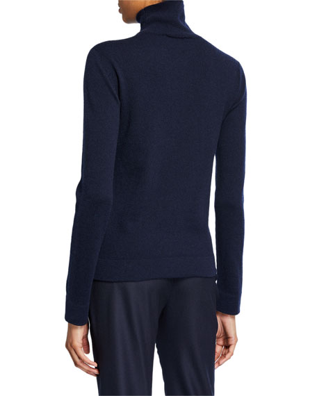 Cashmere Tubular-Finish Turtleneck Sweater
