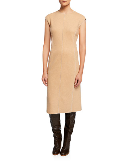 Sleeveless Platino Jersey Dress