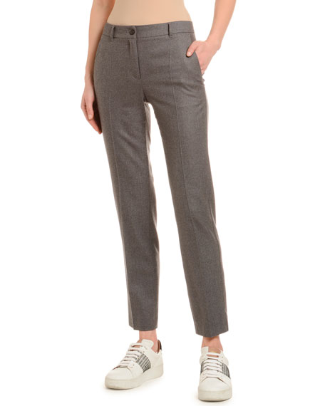 Flannel Wool Tapered Classic Pants