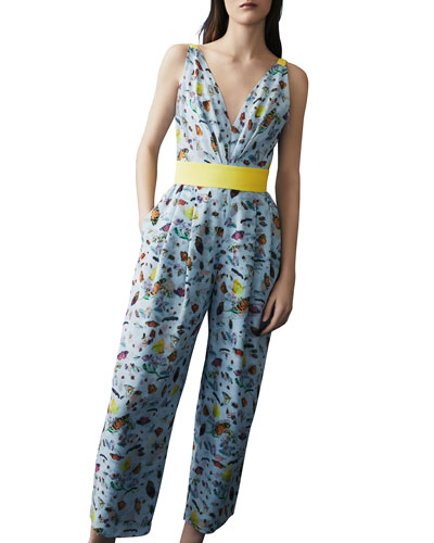 Insect-Print Jumpsuit