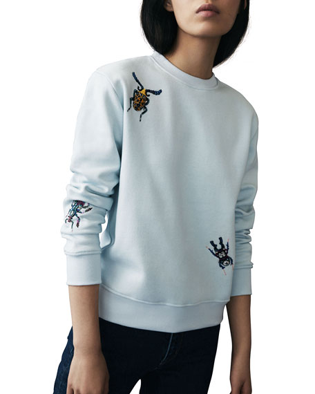 Insect Embroidered Sweatshirt