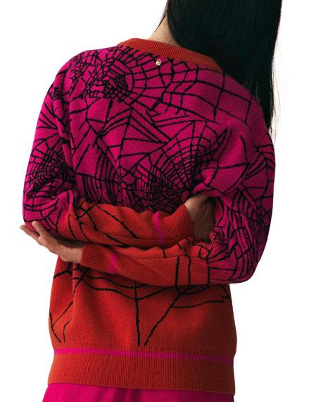 Cashmere Spider-Web Intarsia Sweater
