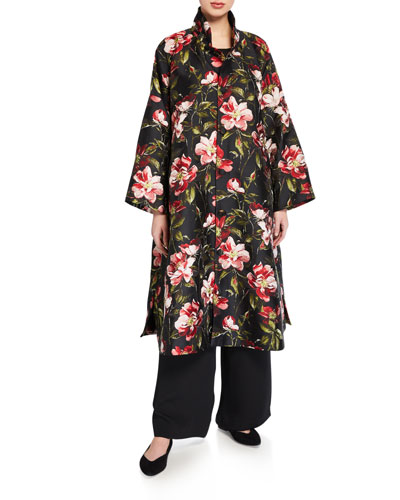Floral-Print Midi Jacket