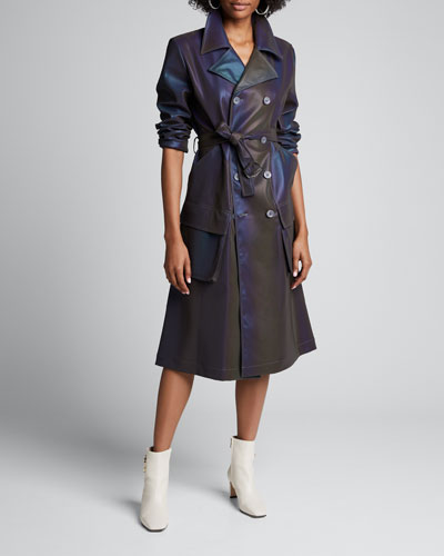 Reflective Trench Coat