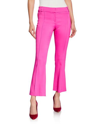 Flare-Leg Seamed Pants