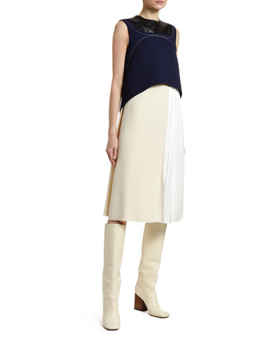 Colorblocked Layered Dress
