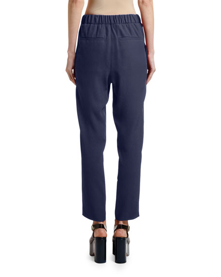 Cropped Side-Stitched Pants