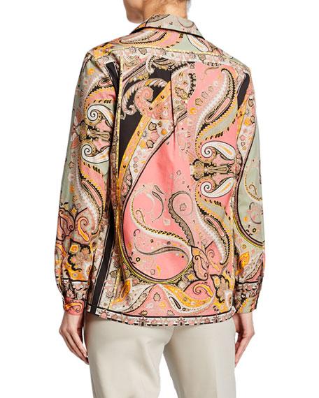 Engineered Paisley Cotton Shirt