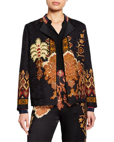 Neo-Nomad Hammered Satin Patchwork Jacket