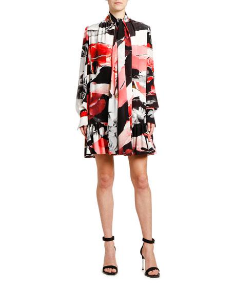 1093f1f1c17de McQ Alexander McQueen Lace-Trim Tank Mini Dress, Black