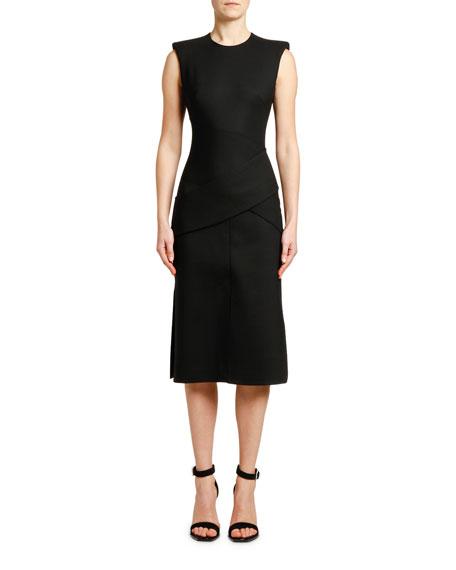 Sleeveless Slash-Cut Detail Dress