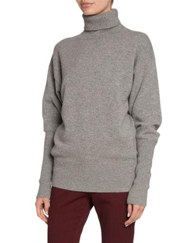 Cashmere Oversized Turtleneck Sweater