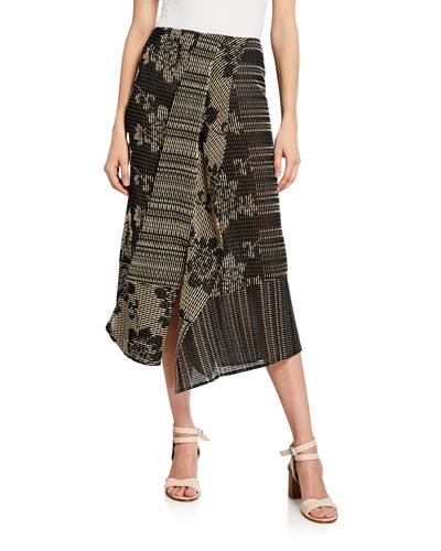 Cross-Stitch Embroidered Maxi Skirt