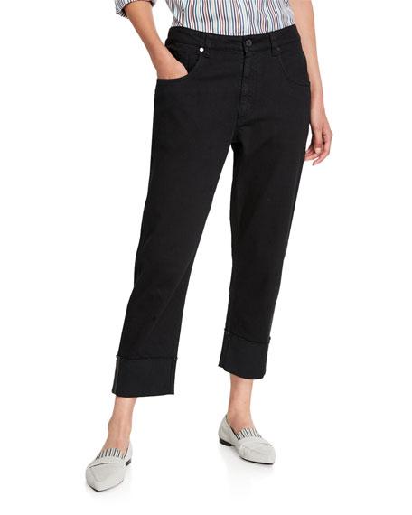Garment-Dyed Monili-Cuffed Jeans