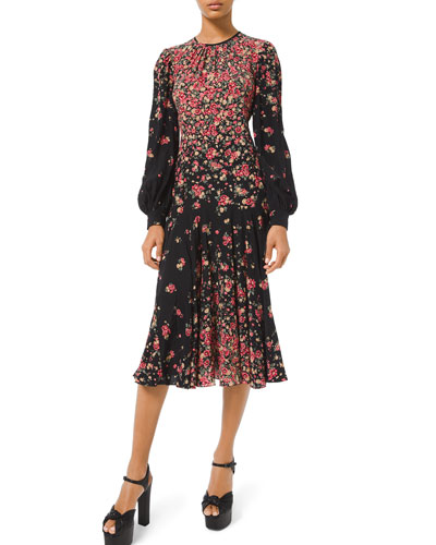 b272fcd29d Long-Sleeve Degrade Floral-Print Dress Quick Look. Michael Kors Collection