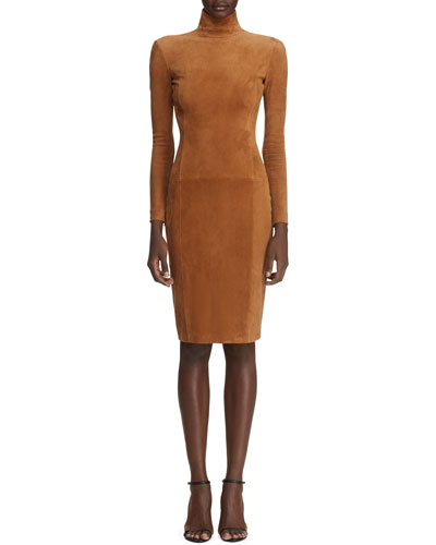 5e4d972b247 Promotion Rosalia Long-Sleeve Suede Bodycon Dress Quick Look. Ralph Lauren  Collection