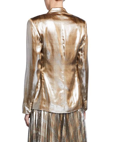 Elias Metallic Checkered Blazer Jacket