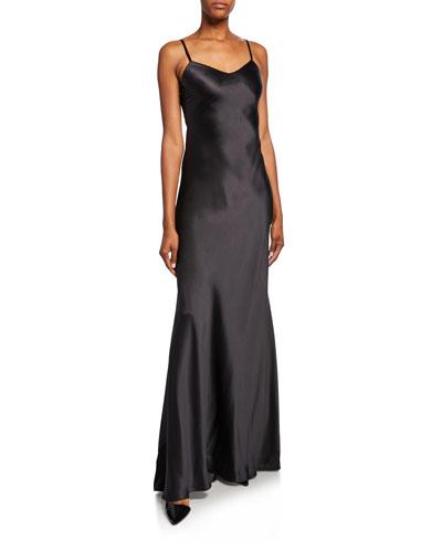 Evelyn Charmeuse Maxi Slip Dress