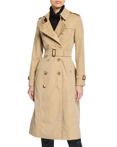 Chelsea Fitted Cotton Trench Coat