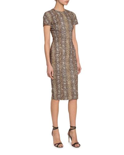 Python Print Fitted T-Shirt Dress