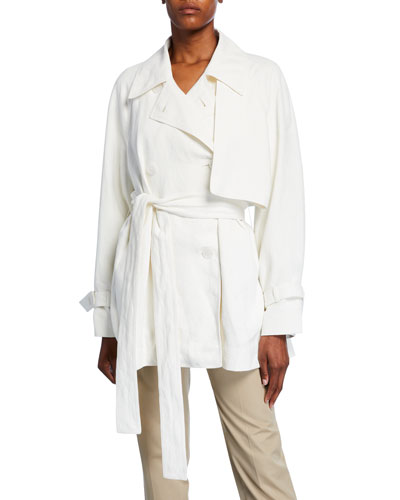 Keera Belted Short Trench Jacket