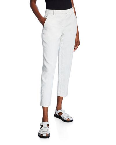 Clark Linen Slim-Leg Ankle Pants