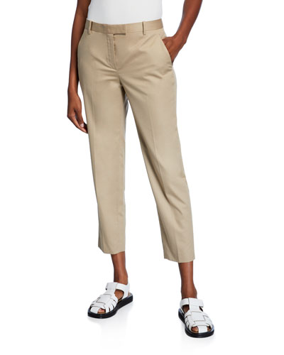 Clark Cotton Slim-Leg Ankle Pants