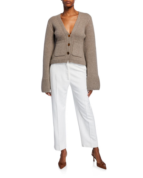 Catherine Cropped Straight-Leg Pants