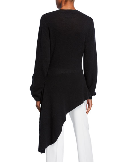 Esme Cashmere Draped Asymmetric Sweater