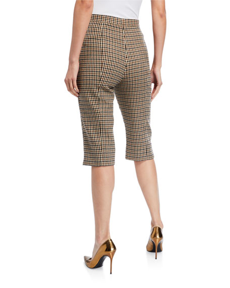 Double-Face Checked Bermuda Shorts