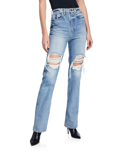 Danielle High-Rise Distressed Stovepipe Jeans
