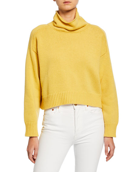 Cropped Turtleneck Sweater