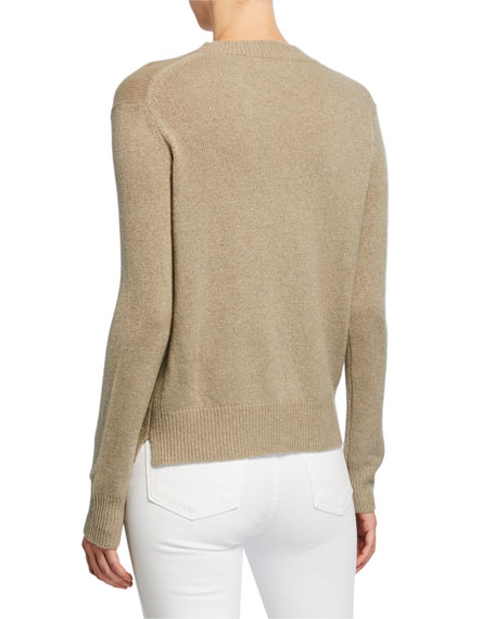 Crewneck Wool-Blend Sweater