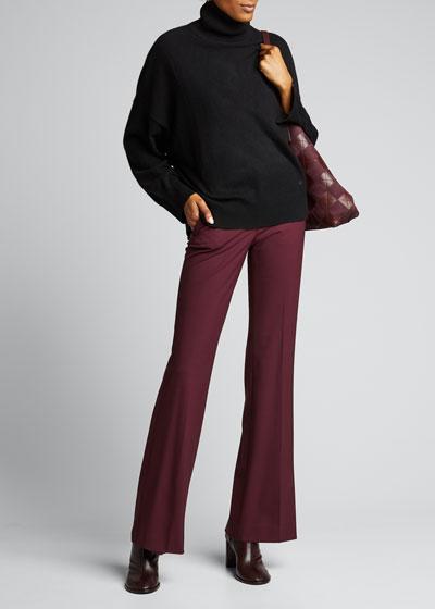 Cashmere Drop-Shoulder Turtleneck Sweater