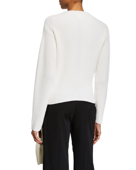 Wool-Cashmere Knotted Cardigan