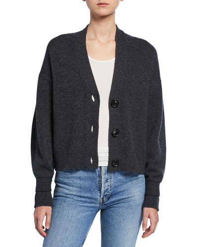 Wool-Cashmere Cropped Cardigan