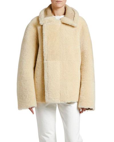 Reversible Shearling Zip-Front Jacket